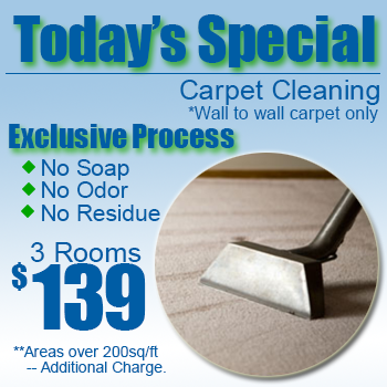 Today's Special - Carpet Cleaning $139